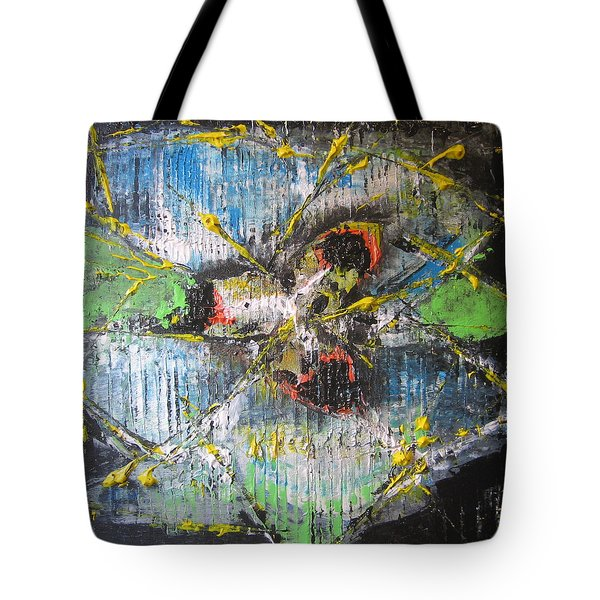 Tote Bag featuring the painting Gimme Moore by Lucy Matta