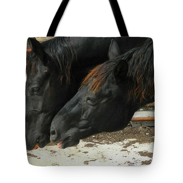 Tote Bag featuring the photograph Gimme That Apple by Kathy Barney