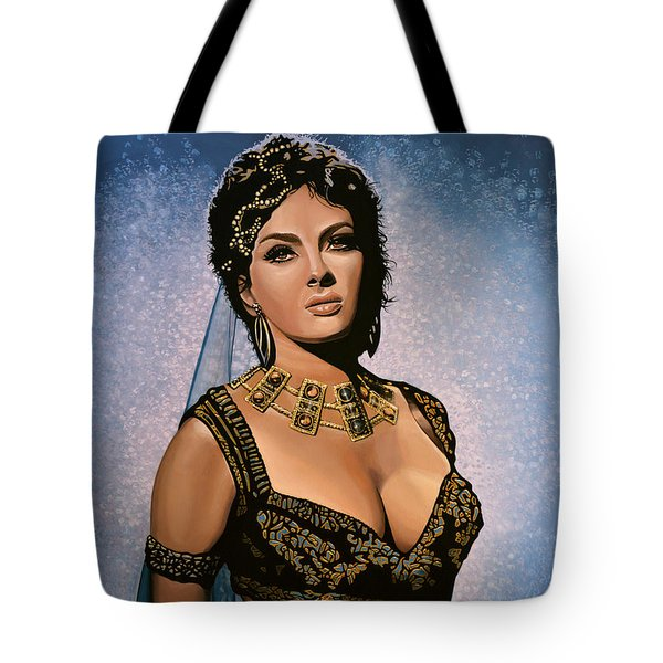 Gina Lollobrigida Painting Tote Bag