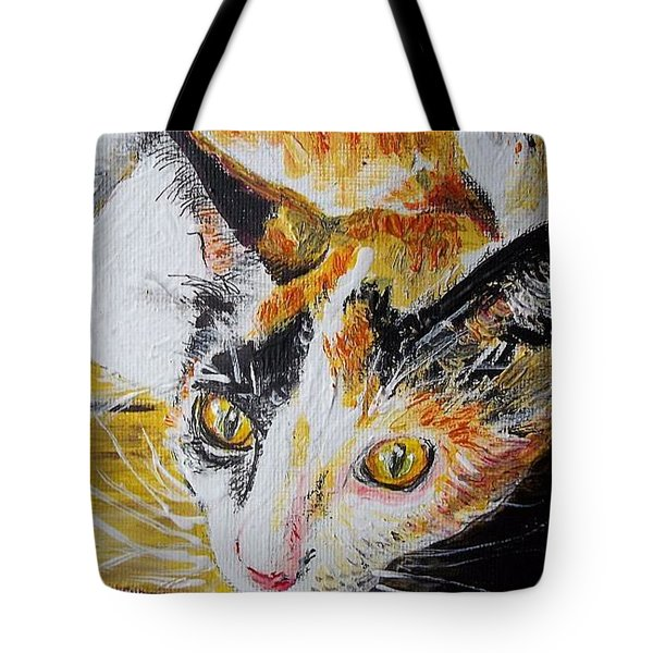 Ginger Stray Cat Tote Bag
