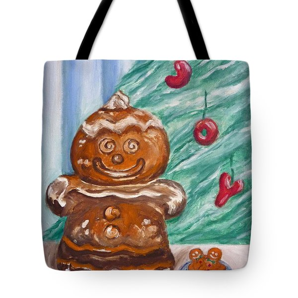 Gingerbread Cookies Tote Bag by Victoria Lakes