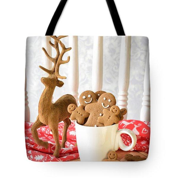 Gingerbread Family At Christmas Tote Bag