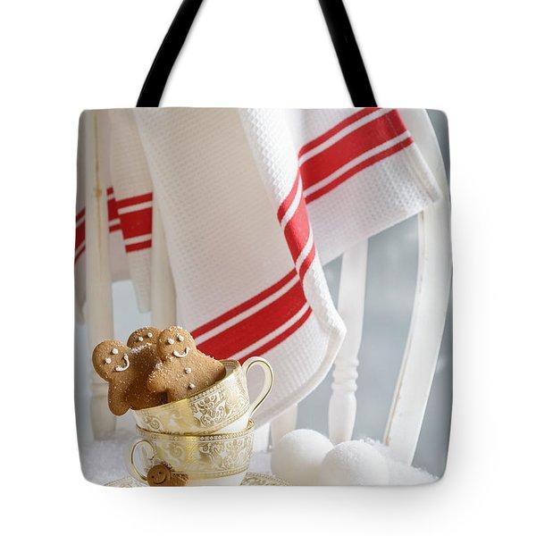 Gingerbread Men At Christmas Tote Bag