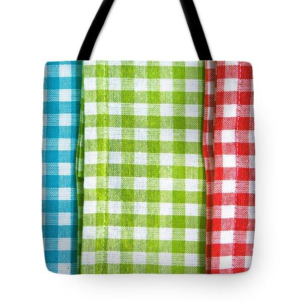 Gingham Tote Bag