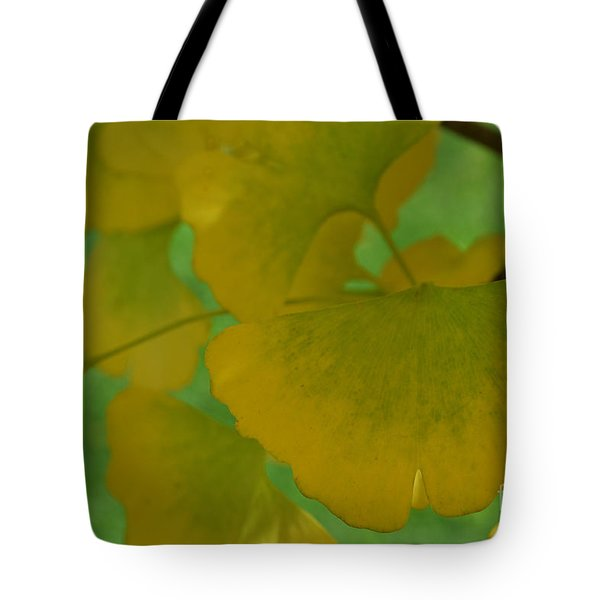 Ginkgo Leaves Abstract Tote Bag