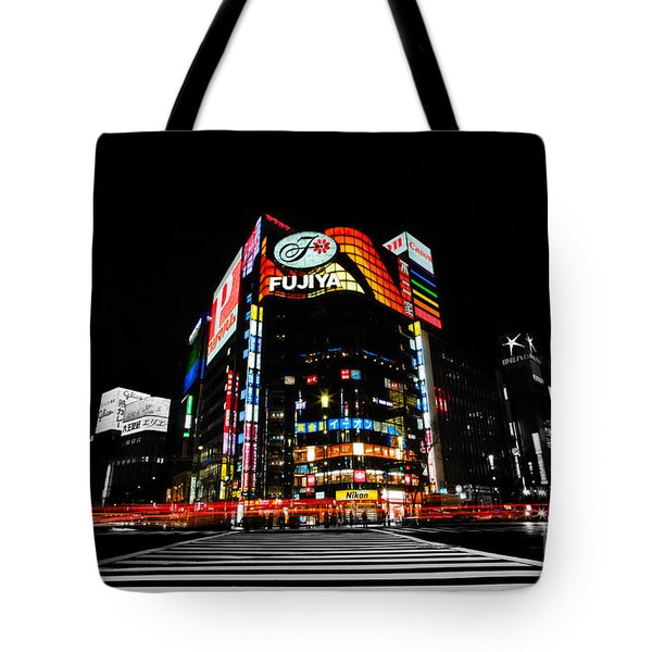 Ginza At Night Tote Bag