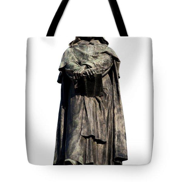 Tote Bag featuring the photograph Giordano Bruno by Fabrizio Troiani
