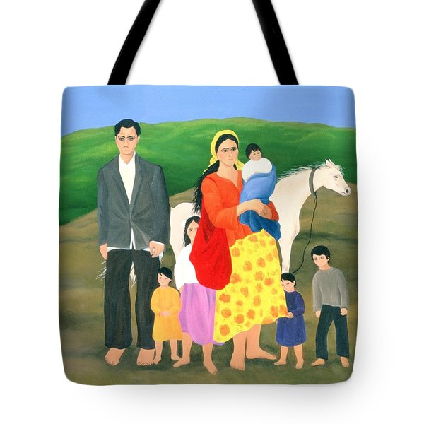 Gipsy Family, 1986 Oil On Canvas Tote Bag