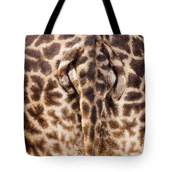Giraffe Butt Tote Bag by Adam Romanowicz