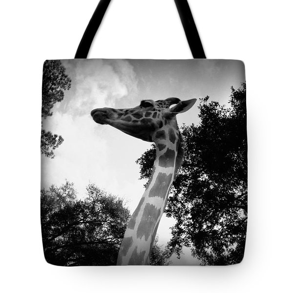 Giraffe Bw - Global Wildlife Center Tote Bag