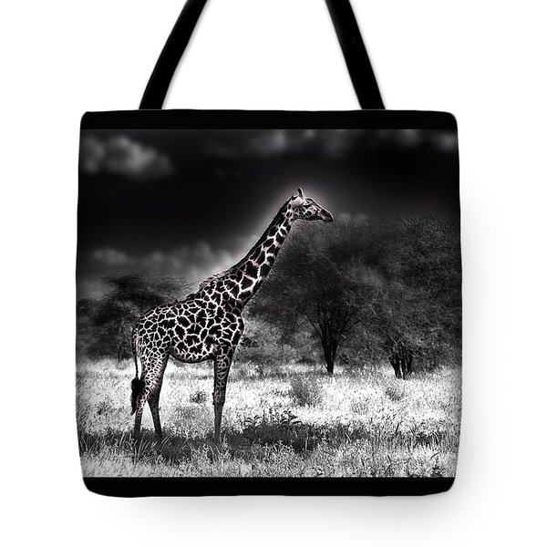 Giraffe Tote Bag by Christine Sponchia