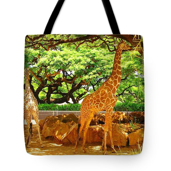 Giraffes Tote Bag by Oleg Zavarzin