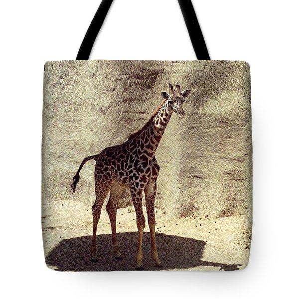 Tote Bag featuring the photograph Giraffe by Philomena Zito