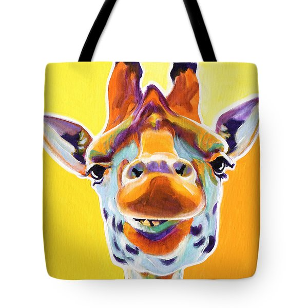 Giraffe - Sunflower Tote Bag