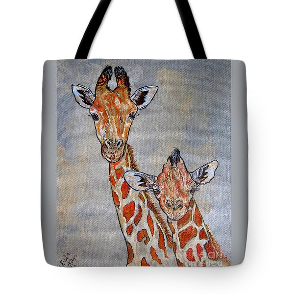 Giraffes - Standing Side By Side Tote Bag