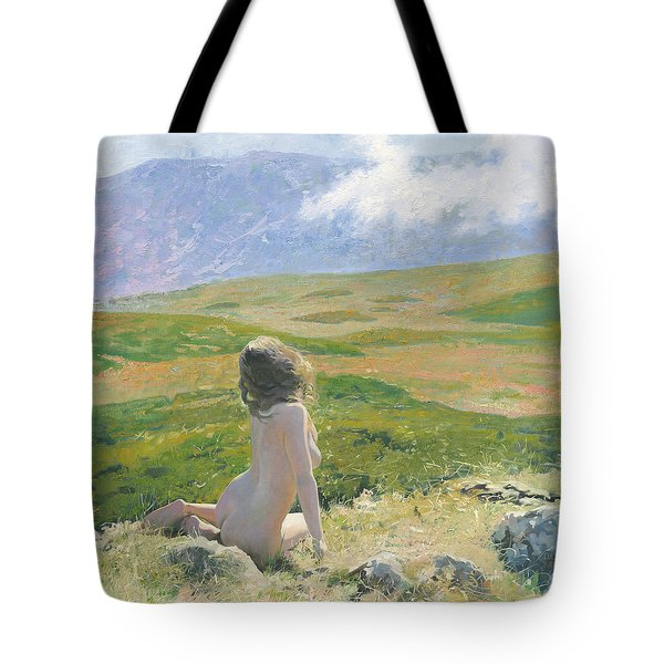Girl And Cloud Tote Bag
