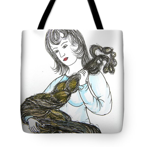 Girl And Tow Tote Bag