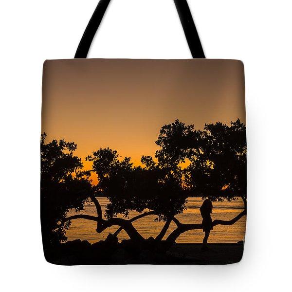 Girl And Tree Tote Bag
