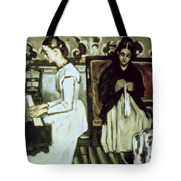 Girl At The Piano Overture To Tannhauser, 1868-69 Oil On Canvas Tote Bag