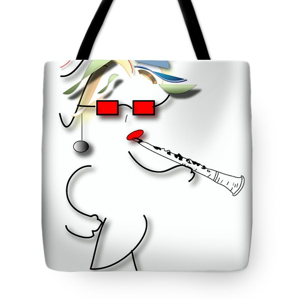 Tote Bag featuring the digital art Girl Clarinet Player by Marvin Blaine