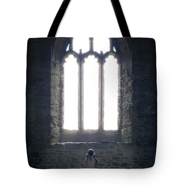 Girl In Chapel Tote Bag by Joana Kruse
