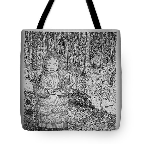 Girl In The Forest Tote Bag