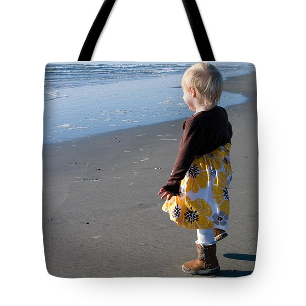 Tote Bag featuring the photograph Girl On Beach by Greg Graham