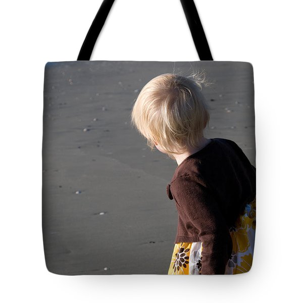 Tote Bag featuring the photograph Girl On Beach II by Greg Graham