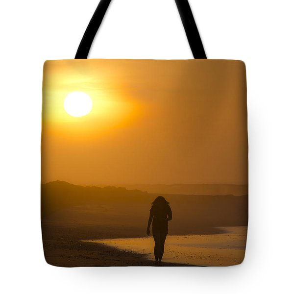 Girl On The Beach  Tote Bag by Bill Cannon