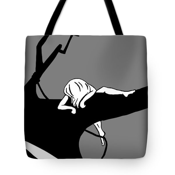 Girl On The Tree Of Time Tote Bag
