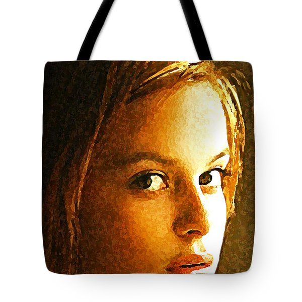 Tote Bag featuring the painting Girl Sans by Richard Thomas