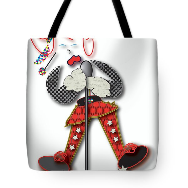 Tote Bag featuring the digital art Girl Singer Dress by Marvin Blaine