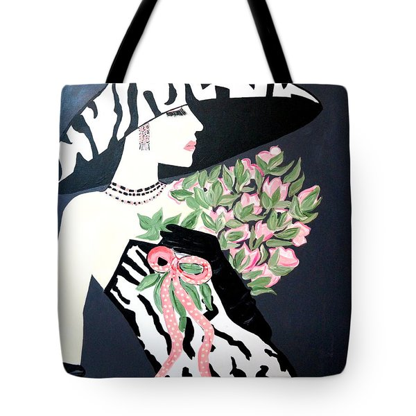 Girl That Loves Pink  Art Deco Tote Bag
