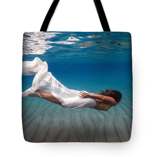 Girl Under The Sea Tote Bag