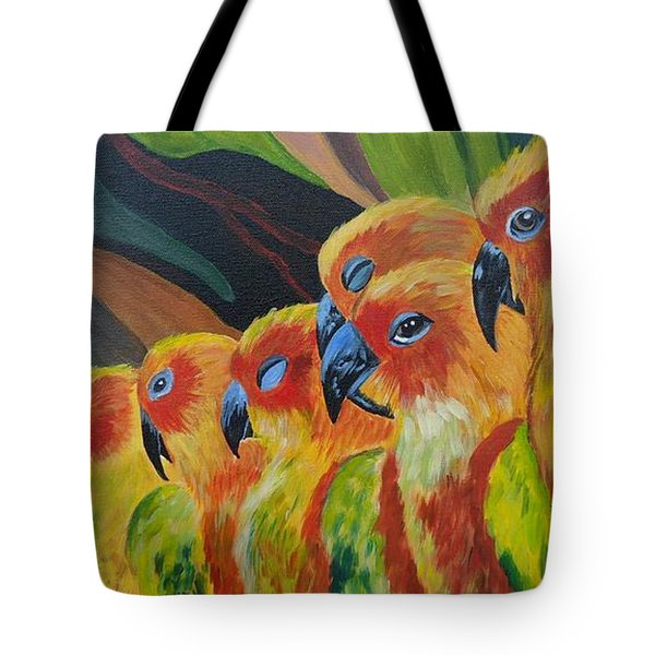 Girl Watching Tote Bag by Julie Brugh Riffey