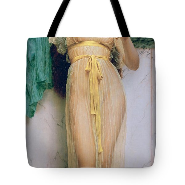 Girl With A Mirror Tote Bag