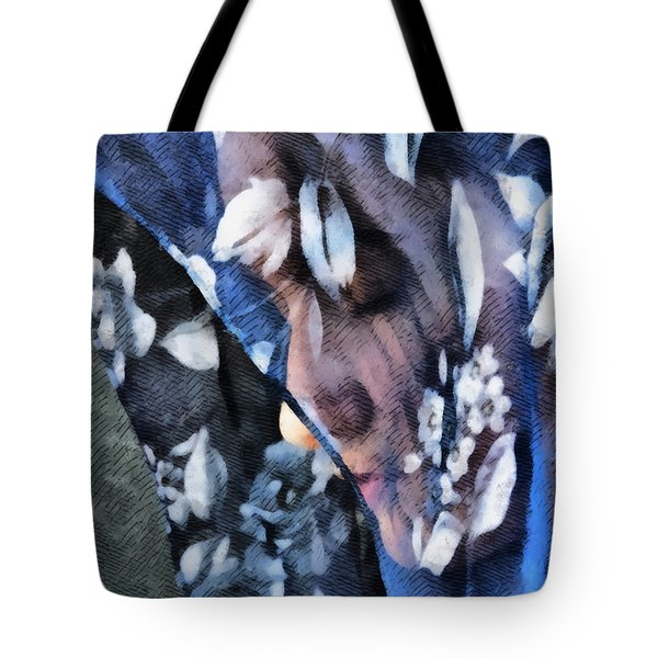 Girl With A Rose Veil 1 Illustration Tote Bag by Angelina Vick