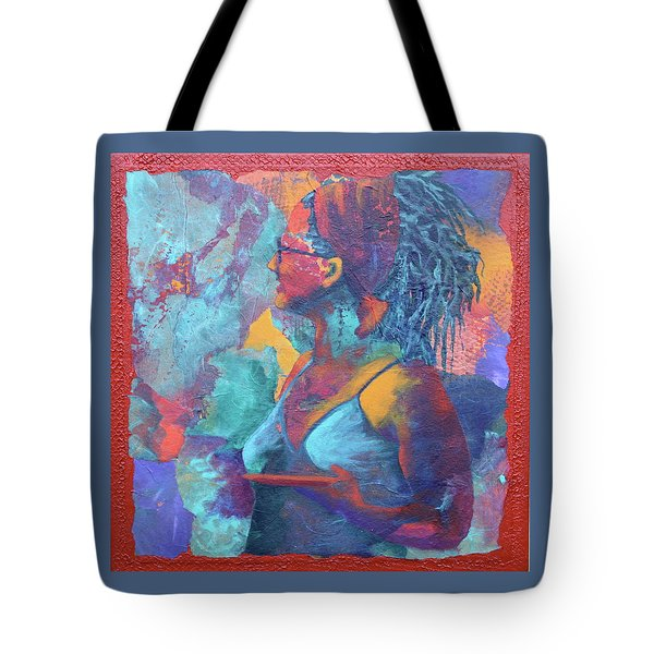 Tote Bag featuring the painting Girl With Dreads by Nancy Jolley