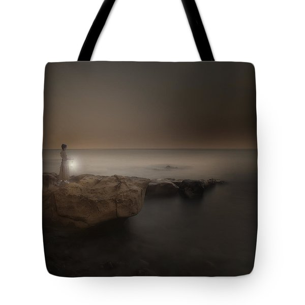 Girl With Lantern Tote Bag by Joana Kruse