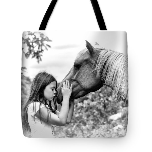 Girls And Their Horses Tote Bag