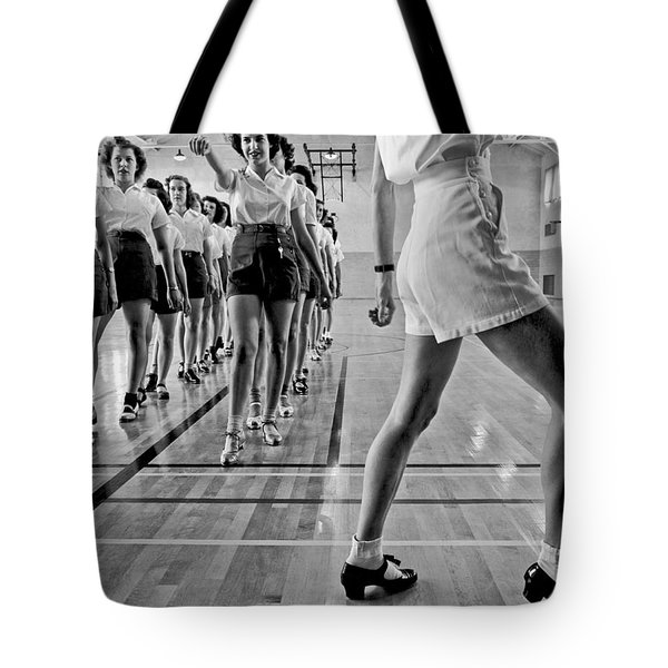 Girls In A Tap Dancing Class Tote Bag