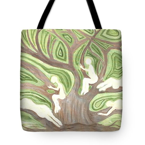 Girls In A Tree Tote Bag