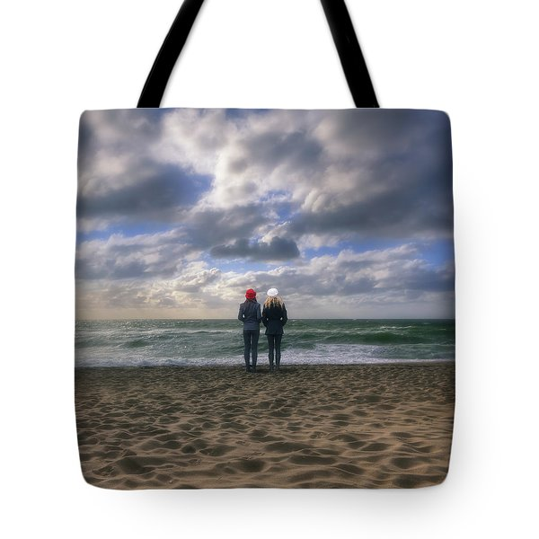 Girls On The Beach Tote Bag by Joana Kruse
