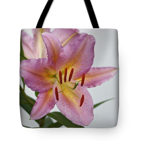 Girosa Lily Tote Bag by Sandy Keeton