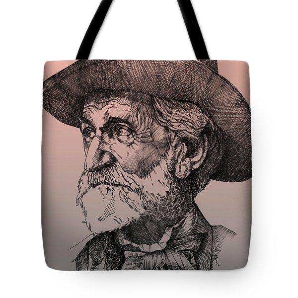 Giuseppe Verdi Tote Bag by Derrick Higgins