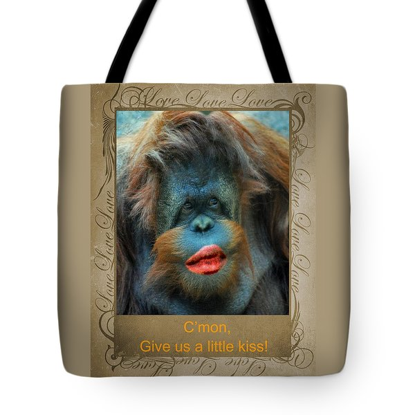 Give Us A Little Kiss Tote Bag by Paula Ayers