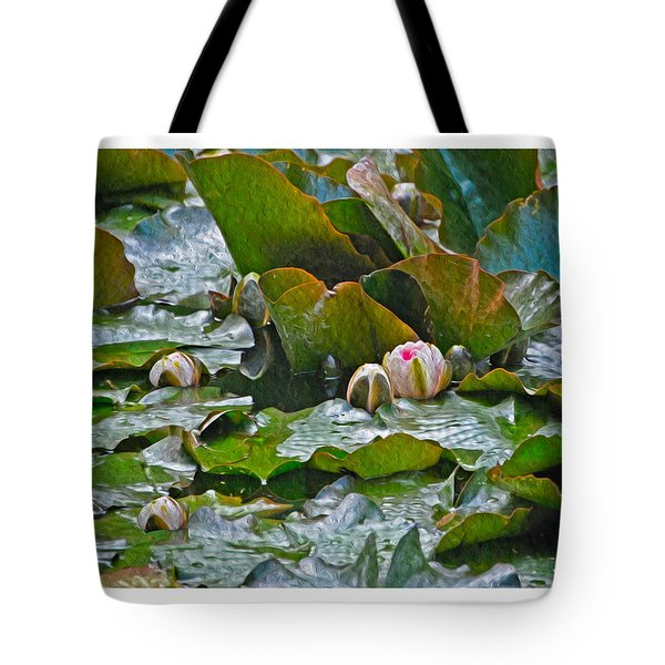 Giverny Early Lilies Tote Bag