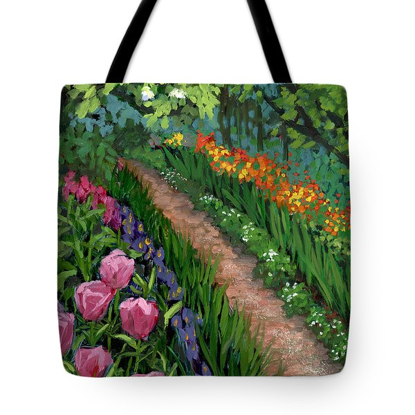 Giverny Garden Tote Bag by Alice Leggett
