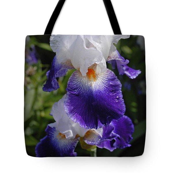 Giverny Iris Tote Bag
