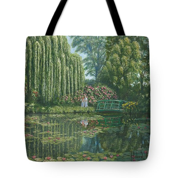 Giverny Reflections Tote Bag by Richard Harpum